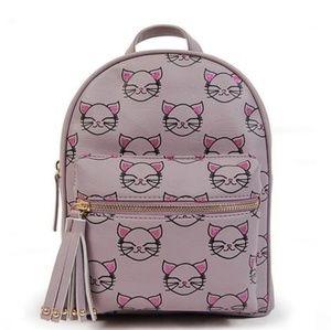 Mini Backpack; kitten/cat themed